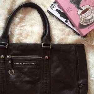 Marc by Marc Jacobs Bat Brown/Ox Blood Tote